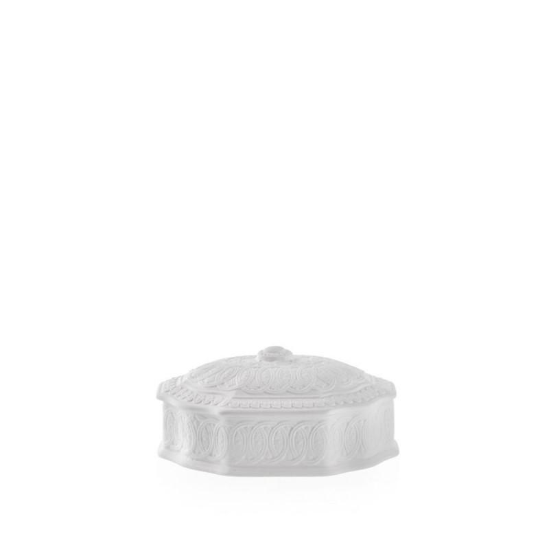 Candida Celiento - Emò Italia, scatola ottagonale piccola in porcellana bisquit bianca