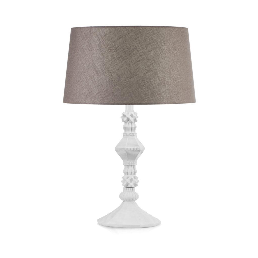 Candida Celiento - Emò Italia, lampada in porcellana bisquit bianca h 45cm