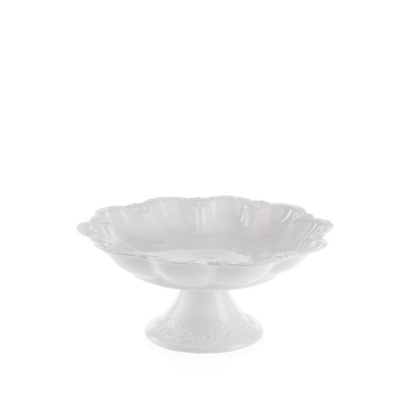 Candida Celiento - Emò Italia, alzata in porcellana bianca diametro 16cm