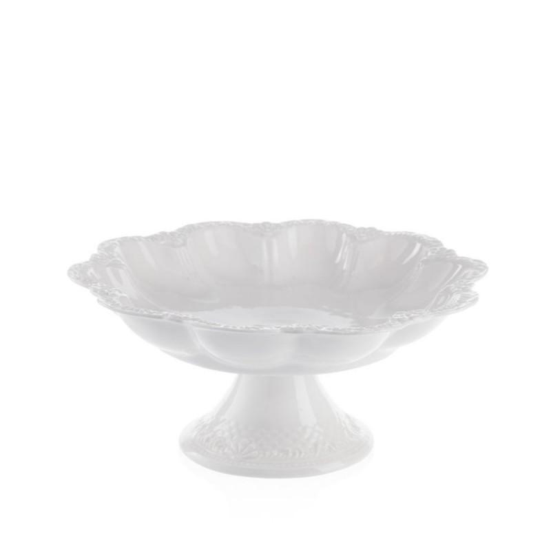 Candida Celiento - Emò Italia, alzata in porcellana bianca diametro 26cm
