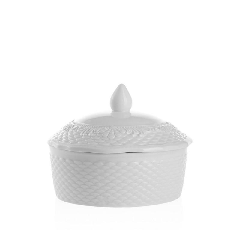 Candida Celiento - Emò Italia, scatola tonda in porcellana bianca