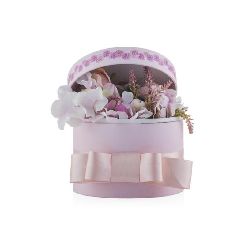 Flower Box con fiori rosa