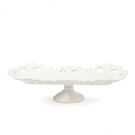 Candida Celiento - Hervit Creations, alzata square in porcellana traforata 27cm