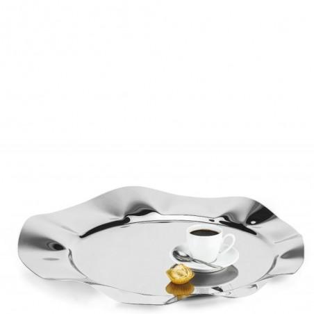 Candida Celiento - Elleffe Design, vassoio in acciaio inox diametro 51cm