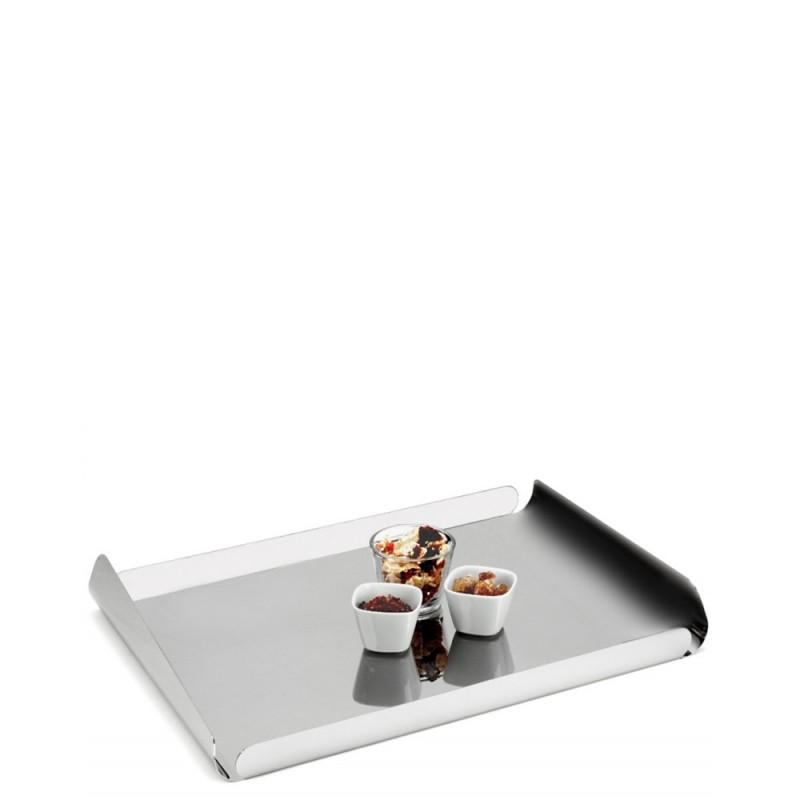 Candida Celiento - Elleffe Design, vassoio in acciaio inox 40x29cm
