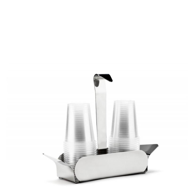 Candida Celiento - Elleffe Design, portabicchieri Ypsilon in acciaio inox