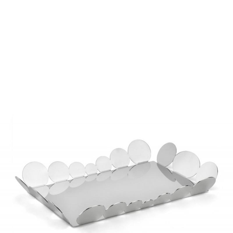 Elleffe Design - Vassoio in acciaio inox 45x31cm