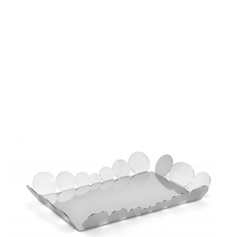 Candida Celiento - Elleffe Design, vassoio in acciaio inox 39x27CM