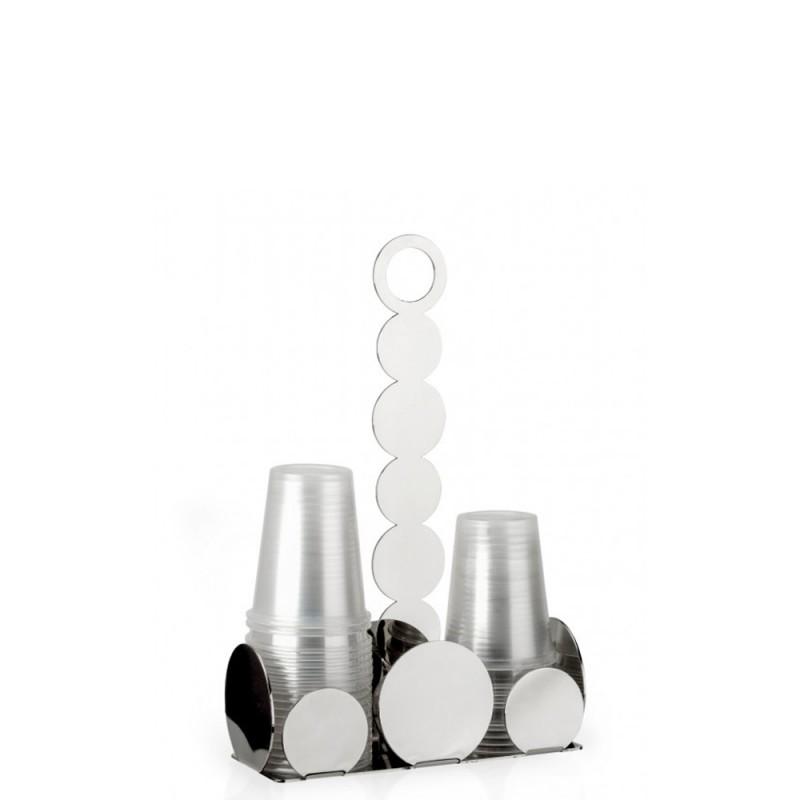 Elleffe Design - Portabicchieri in acciaio inox 20x8cm
