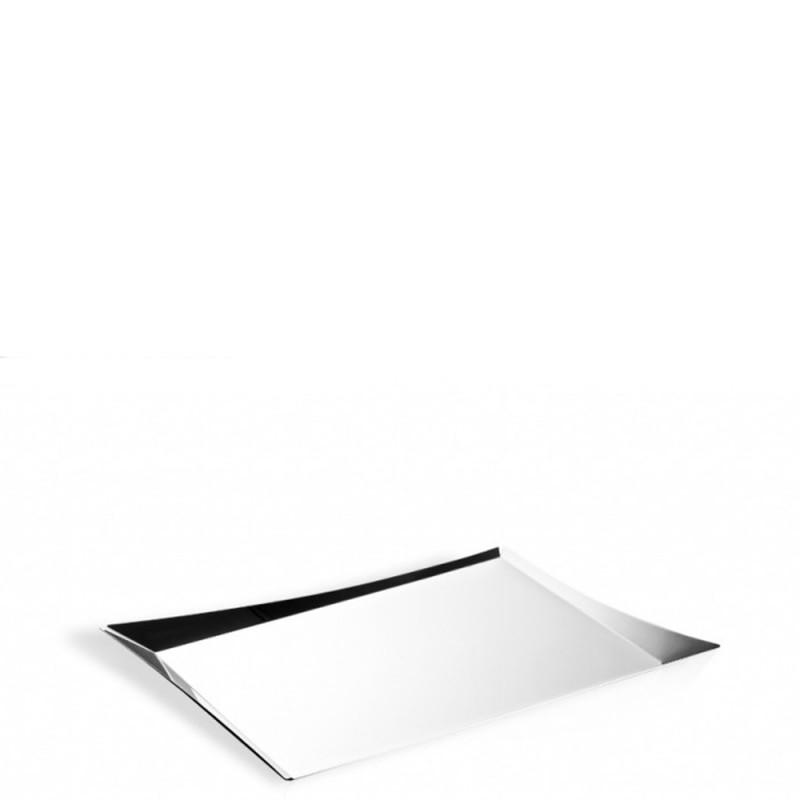 Elleffe Design - Vassoio in acciaio inox 43x33cm