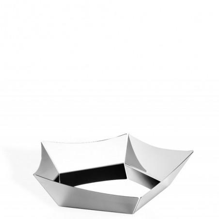 Candida celiento - Elleffe Design, cestino in acciaio inox 31x31cm