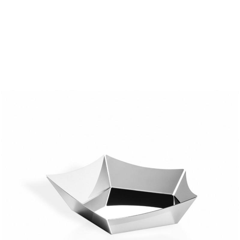 Elleffe Design - Cestino Vela in acciaio inox 22x22cm