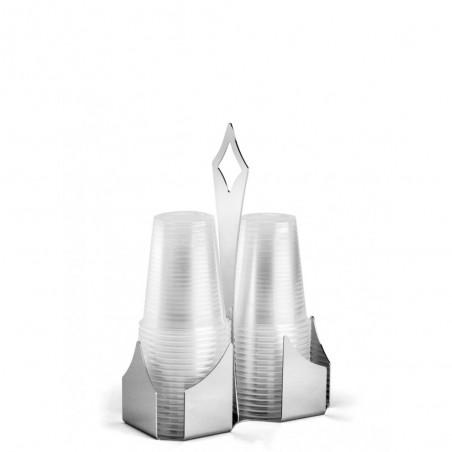 Candida Celiento - Elleffe Design, portabicchieri in acciaio inox 16x8cm