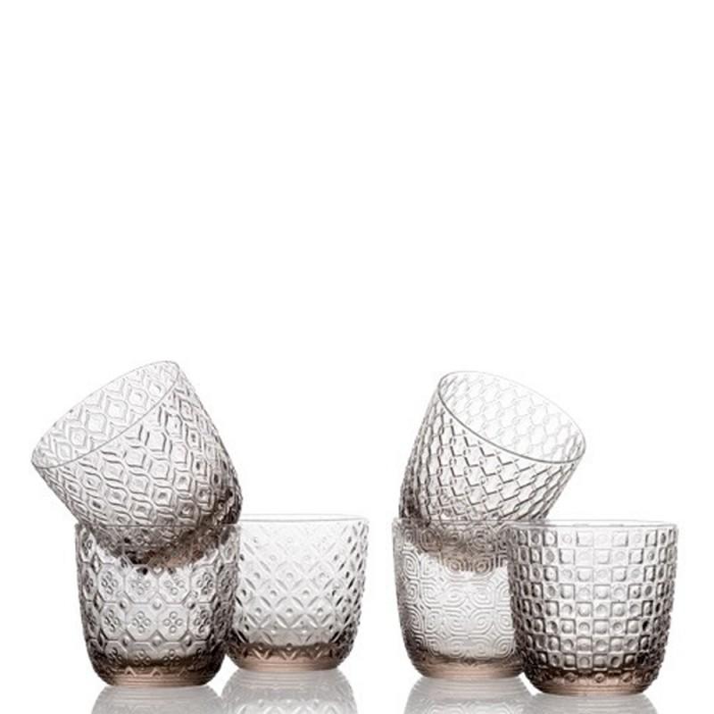 IVV - Set 6 bicchieri acqua SIXTIES grigio