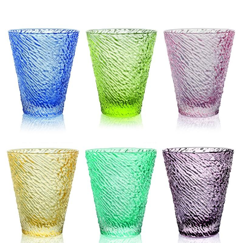 IVV - Set 6 bicchieri acqua Iroko multicolor