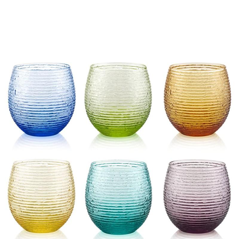 IVV - Set 6 bicchieri acqua Multicolor