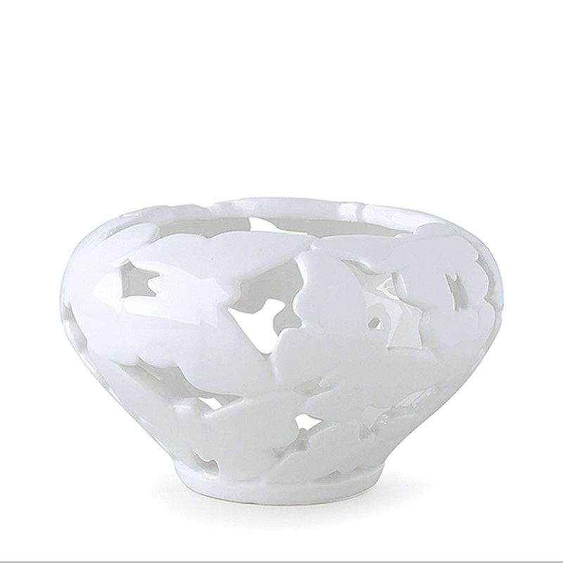 Candida Celiento - Hervit Creations, ciotola farfalle in porcellana traforata diametro 13cm