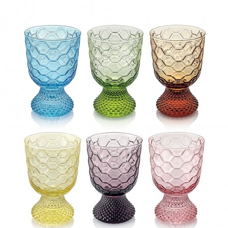 IVV - Set 6 calici acqua Vintage multicolor
