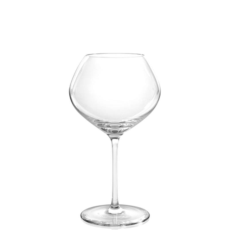 Candida Celiento - IVV, set 6 calici vino rosso invecchiato Vizio trasparenti