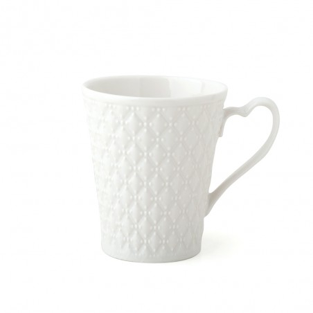 Candida Celiento - Hervit Creations, set 2 tazze mug in porcellana bianca