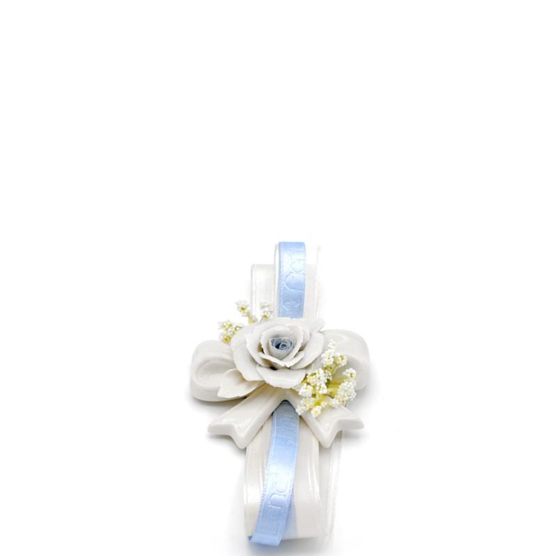 Candida Celiento - Fiori di Lena, fiocco Golden azzurro piccolo