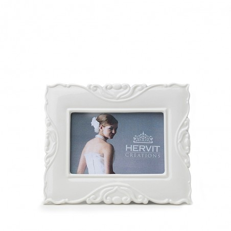 Candida Celiento - Hervit Creations, cornice in porcellana bianca 11,5x13,5cm