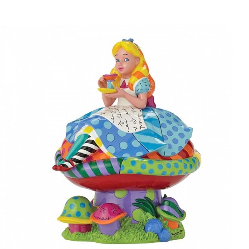 Disney - Statuetta Alice sul fungo Disney Britto