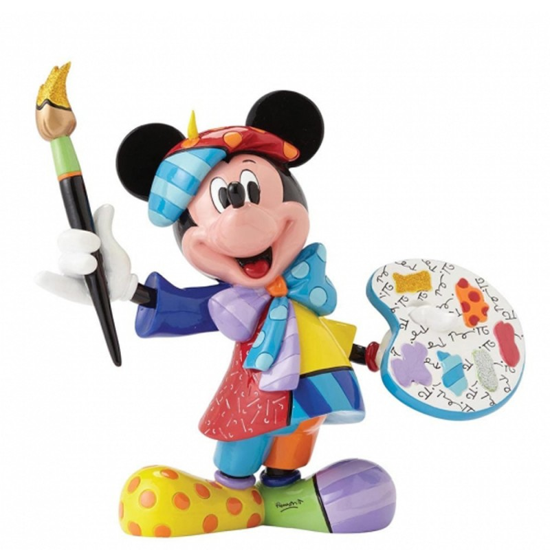 Disney - Statuina Topolino pittore Disney Britto