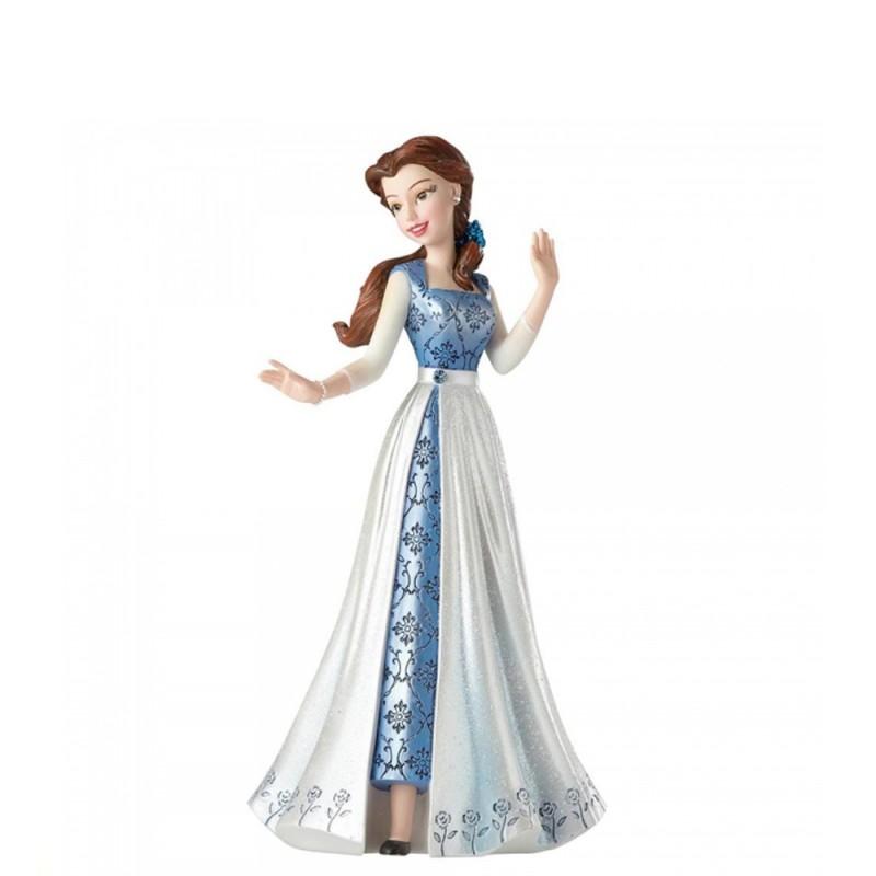 Disney - Statuina Belle blu La bella e la bestia Showcase Collection
