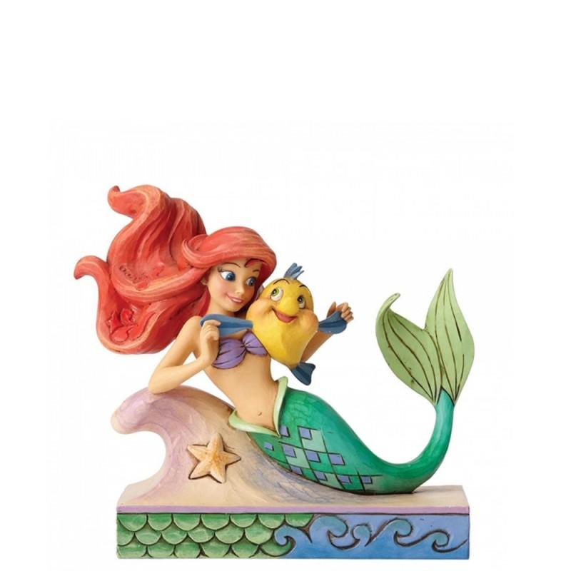 Disney - Statuina Ariel con flounder Disney Traditions