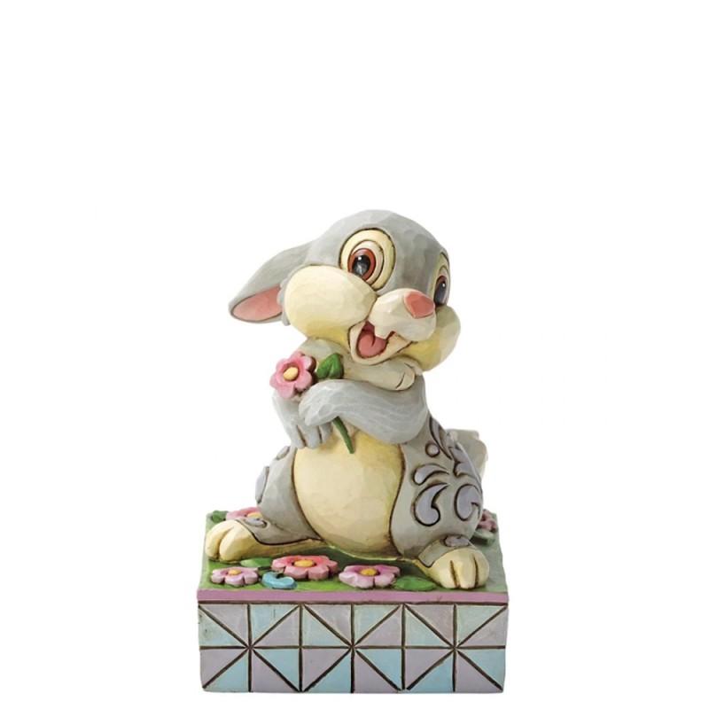 Disney - Statuina Bambi Tamburino con fiore Disney Traditions