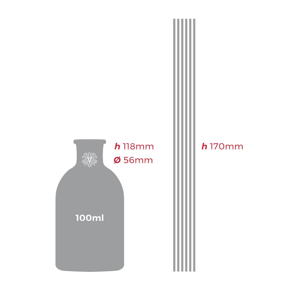 Dr. Vranjes - Diffusore di fragranza  CHINOTTO E PEPE 100ml - dimensioni
