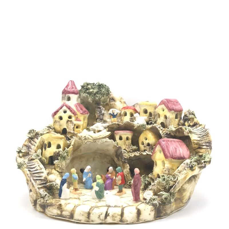 Capodimonte - Presepe in porcellana medio 34x21cm - PRESEPE-MEDIO-3421 - Candida Celiento - Foto 1