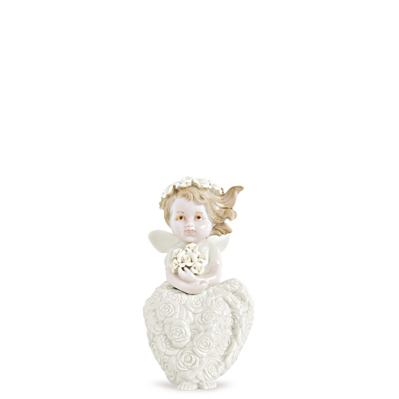 Hervit fatina seduta porcellana 25466 16cm Candida Celiento-Foto1