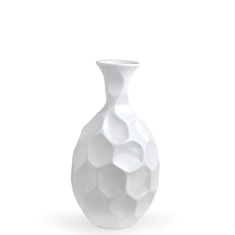 Hervit vaso esagoni porcellana bianco 26683-32x60cm-Candida Celiento-Foto1