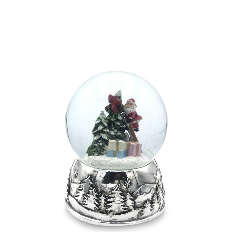 Il Mondo dei Carillon - Carillon palla di neve con Babbo Natale 10x13 - 58063 - Candida Celiento - foto1