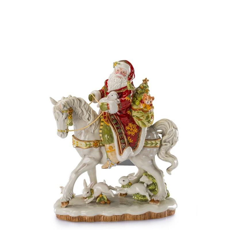 Fitz and Floyd - Babbo Natale su cavallo 42cm - 10449 - Candida Celiento - foto1