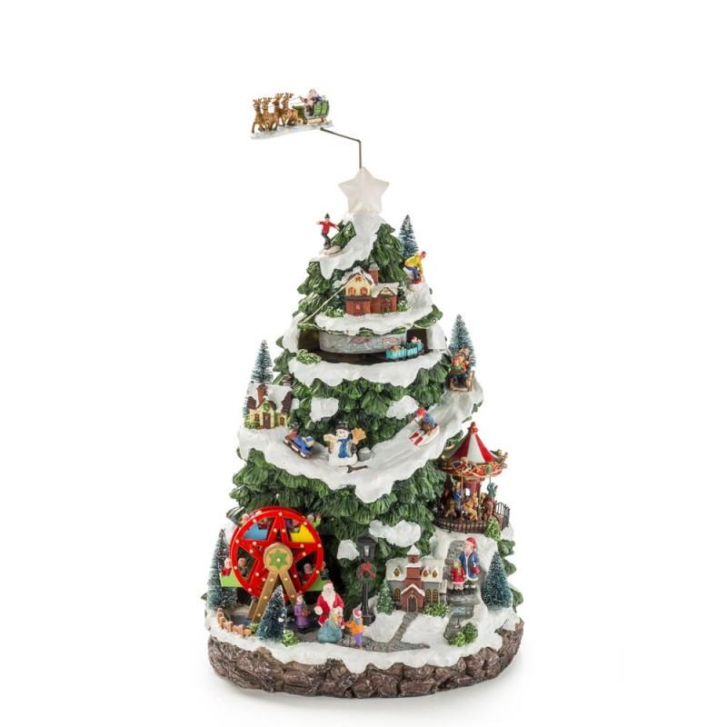 Fitz and Floyd - Carillon albero di Natale con soggetti natalizi - 1017144 - Candida Celiento - foto1