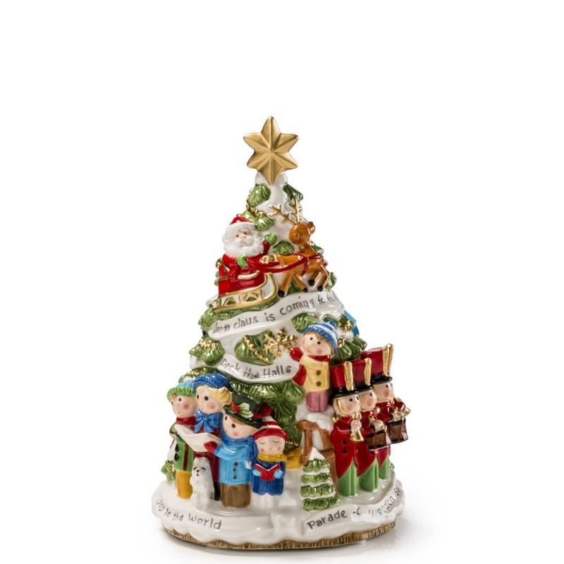 Fitz and Floyd - Carillon con albero di Natale 25cm - 1018217 - Candida Celiento -foto1