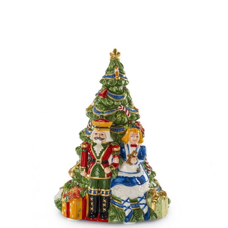 Fitz and Floyd - Carillon con albero di Natale 21cm - 1017276 - Candida Celiento - foto1