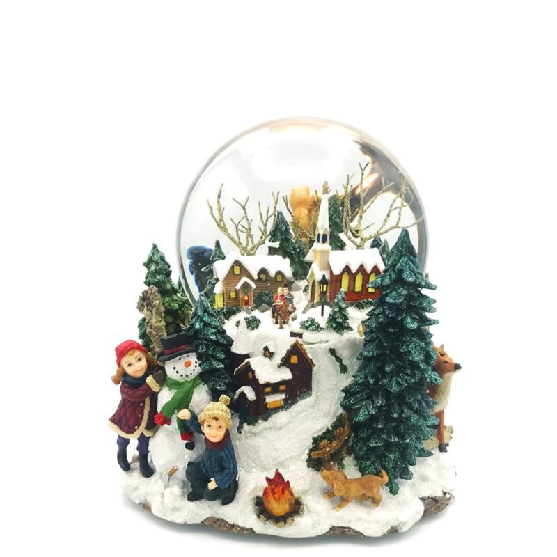 Il Mondo dei Carillon - Carillon palla di neve con villaggio natalizio - 46076 - Candida Celiento - Foto 1