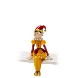 Noel - Pierrot seduto in resina - 1018108 - Candida Celiento - foto1