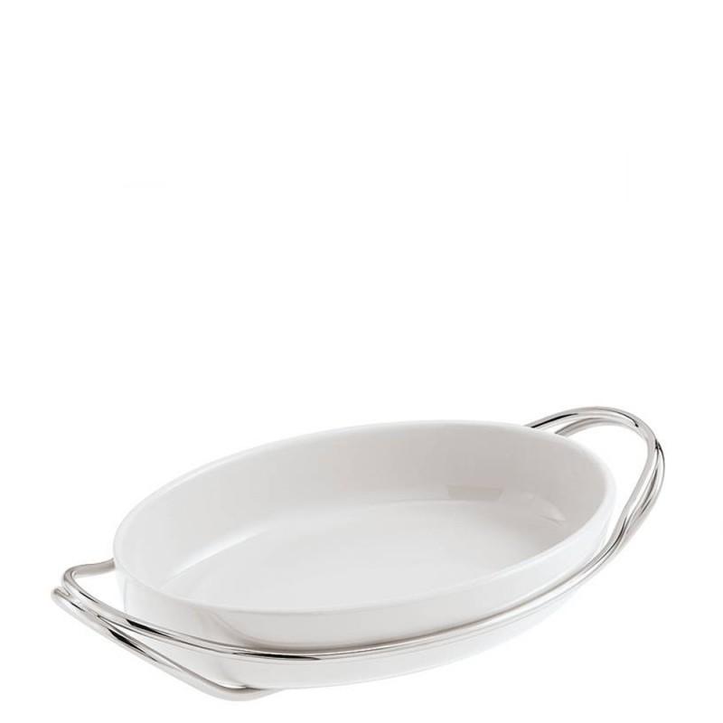 Sambonet pirofila ovale con supporto New Living 44x27cm - 56401L44