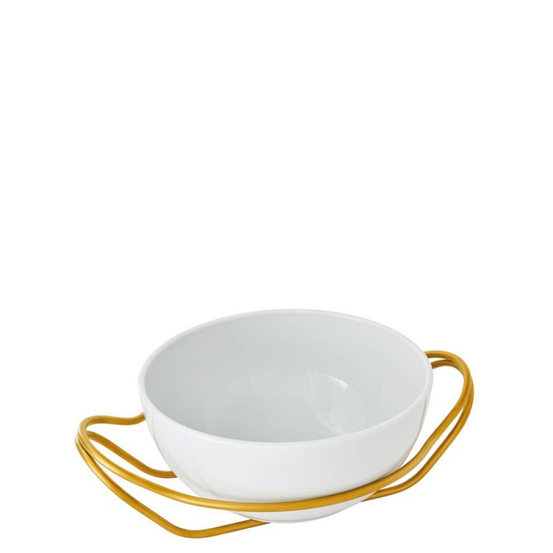 Sambonet spaghettiera con supporto oro New Living Ø27cm - 56420G27