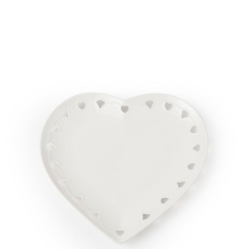 Piatto cuore porcellana Ø25cm