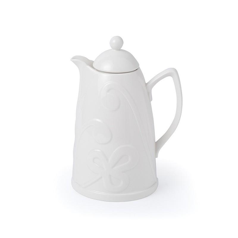 Hervit caraffa termica porcellana bianca 21x29cm