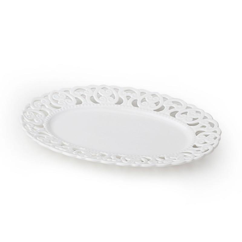Hervit piatto ovale porcellana traforata cod. 27299
