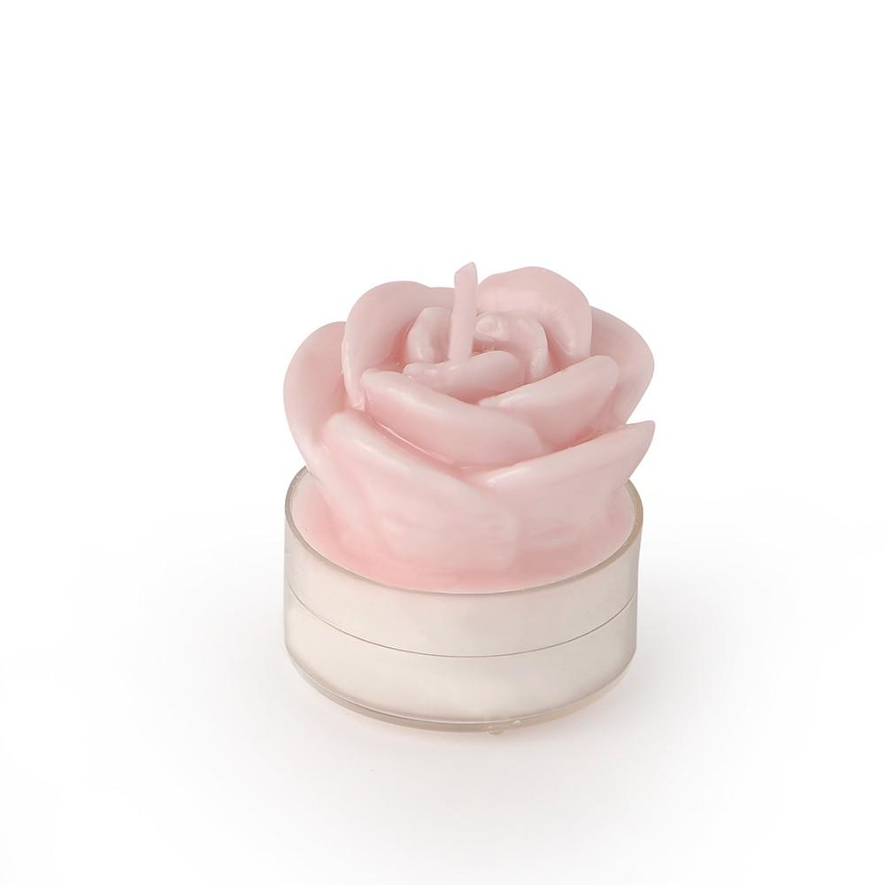 Candele Segnaposto Per Matrimonio.Hervit Box 6 Candele Tealite Rosa Laccate Malva 4cm Candida Celiento