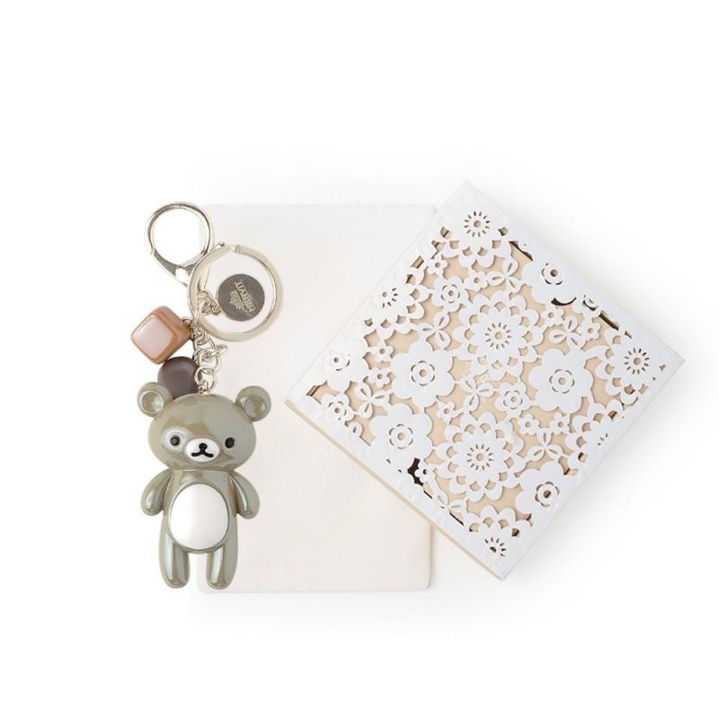 Hervit box portachiavi orsetto grigio 12cm - 27270