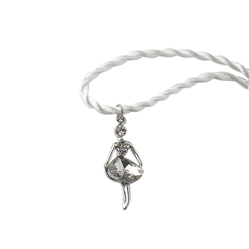hervit pendente ballerina metallo 4 5 cm argento - 27504